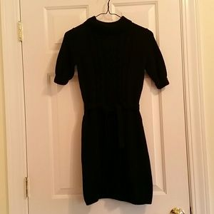 Cherokee black long sleeved turtle neck dress L